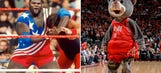 WWE's Mark Henry bashes impostor Rockets mascot with steel chair