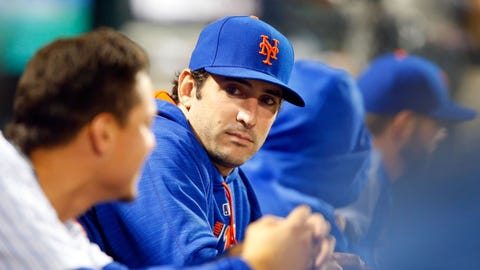 NEW YORK, NY - MAY 05:  Matt Harvey #33 of the New York Mets looks on against the Miami Marlins at Citi Field on May 5, 2017 in the Flushing neighborhood of the Queens borough of New York City. The Mets defeated the Marlins 8-7.  (Photo by Jim McIsaac/Getty Images)
