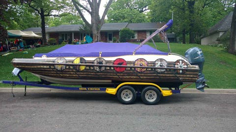 Vikings themed boat