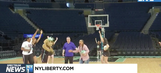 Video: Reporter nails half-court shot live on TV at MSG-on his first try