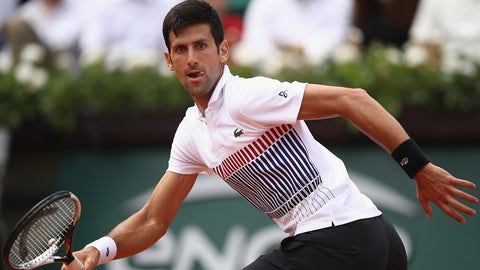 PARIS, FRANCE - MAY 31:  Novak Djokovic of Serbia in action during the mens singles second round match against Joao Sousa of Portugal on day four of the 2017 French Open at Roland Garros on May 31, 2017 in Paris, France.  (Photo by Julian Finney/Getty Images)