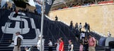 Fan struck by bat at Padres game