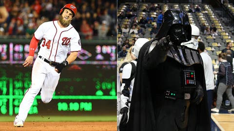 Darth Vader (as played by Washington Nationals' Bryce Harper)