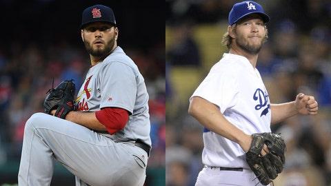 Cardinals right-hander Lance Lynn and Dodgers left-hander Clayton Kershaw