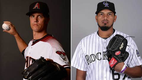 Today's starting pitchers: RHP Zack Greinke vs. RHP German Marquez