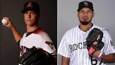 Today's starting pitchers: RHP Zack Greinke vs. RHP German Marquez