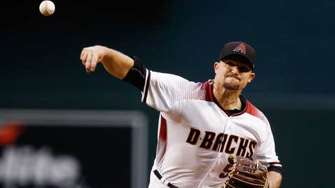 D-backs starting pitcher Zack Godley (0-0, 3.60 ERA)