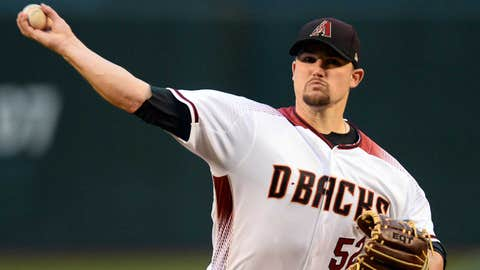 D-backs starting pitcher Zack Godley (1-1, 2.45 ERA)