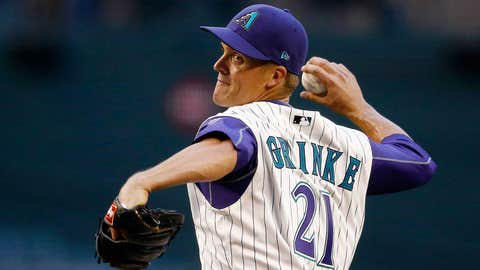 D-backs starting pitcher Zack Greinke (4-2, 2.79 ERA)