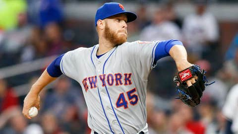Mets starting pitcher Zack Wheeler (2-2, 4.18 ERA)