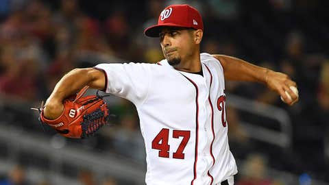 Nationals starting pitcher Gio Gonzalez (3-0, 1.62 ERA)