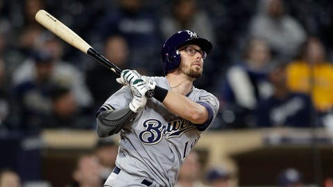 Eric Sogard, Brewers infielder (↑ UP)