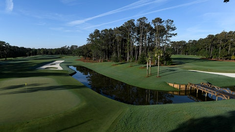 PONTE VEDRA BEACH, FL - MAY 03:  A scenic view of the 12th hole prior to THE PLAYERS Championship on THE PLAYERS Stadium Course at TPC Sawgrass on May 3, 2017, in Ponte Vedra Beach . (Photo by Stan Badz/PGA TOUR)