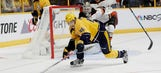 Predators LIVE to Go: Preds score two late, but fall 3-2 in OT