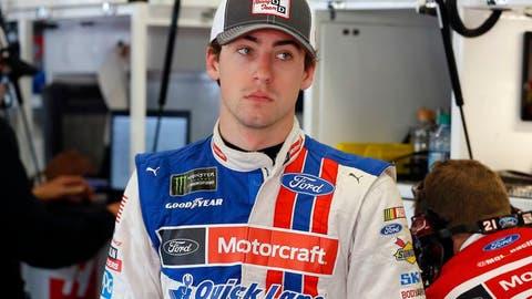 Ryan Blaney, pit reporter