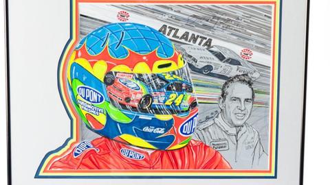 Lot No. 6, Atlanta Motor Speedway Program Cover Original