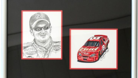 Lot 163, Dale Earnhardt Jr. and Bud Car Original
