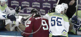 Slovenian hockey player suspended after kicking opponent in the neck with skate