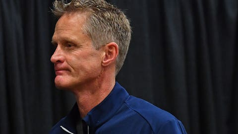 Steve Kerr won't be on the bench