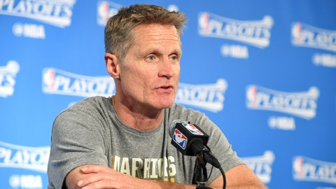 They probably won't have Steve Kerr for the rest of the postseason