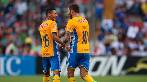 Tigres (25 points, +14 goal differential)