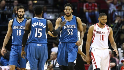 6. Minnesota Timberwolves (31-51): 5.3 percent