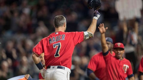 Joe Mauer, Twins first baseman (↑ UP)