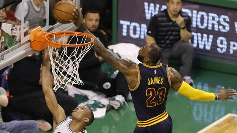 LeBron James played a little bit of center, because he can