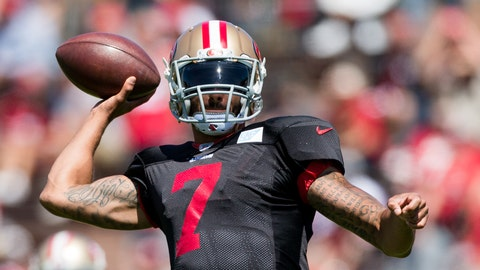 You can't deny that Kaepernick's anthem protests are keeping him out of the NFL
