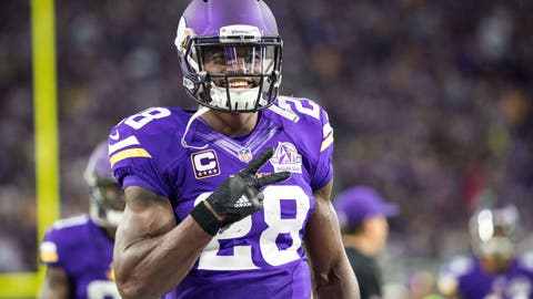 Peterson won't get enough carries to wear down a defense