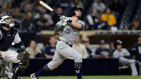 Eric Sogard, Brewers second baseman (↑ UP)