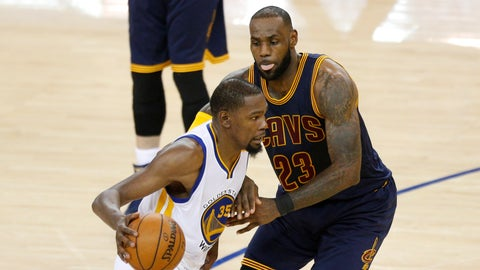 LeBron can't guard Kevin Durant