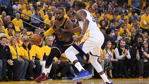 The Warriors are daring LeBron James to shoot, which is messing with his head