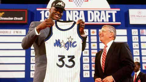 1992: The Magic take Shaquille O'Neal, only to run him out of town years later