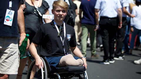Billy Monger seen on the grid ahead of the 24 Hours of Le Mans. (Photo: John Dagys)