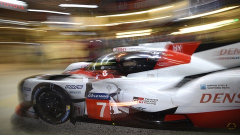 The No. 7 Toyota had led the opening 10 hours of the 24 Hours of Le Mans. (Photo: Rainier Ehrhardt/LAT Images)