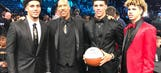 (B)all in the family: Lakers introduce second-overall pick Lonzo Ball