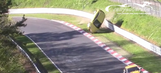 Opel Astra rolls over in hard crash at the Nurburgring