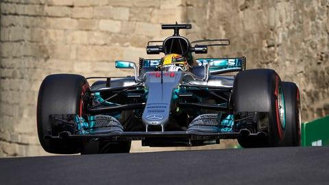 Lewis Hamilton will start on pole for Sunday's F1 race. (Photo: Steve Etherington/LAT Images)