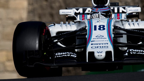 Lance Stroll will start in eighth place for the Azerbaijan GP. (Photo: Zak Mauger/LAT Images)