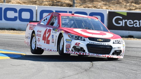 Kyle Larson qualified on pole position for Sunday's Toyota Save Mart 350.  (Photo: John K Harrelson/LAT Images)