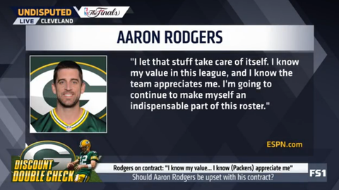 """Aaron Rodgers: """"I know my value"""""""