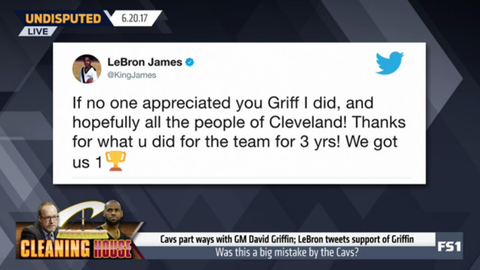 LeBron James responded to the news on Twitter