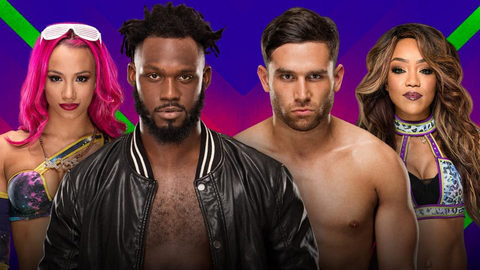 Rich Swann and Sasha Banks vs. Noam Dar and Alicia Fox in a mixed tag team match