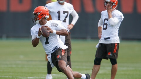 The Browns' depth chart at quarterback is a mystery