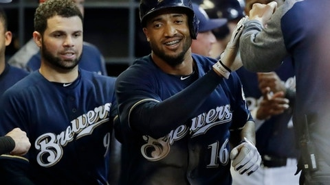 Domingo Santana, Brewers outfielder (↑ UP)