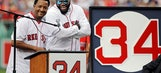 Red Sox retire No. 34 for Ortiz: 'This is his (pause) city'