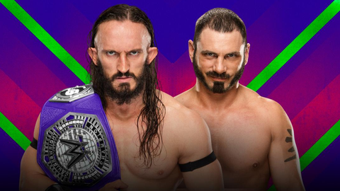 Neville vs. Austin Aries in a submission match for the Cruiserweight Championship