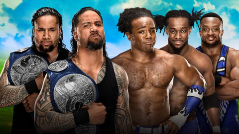 The Usos vs. The New Day for the SmackDown Tag Team Championship