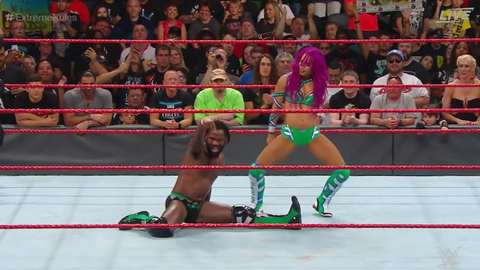 Rich Swann and Sasha Banks defeated Noam Dar and Alicia Fox